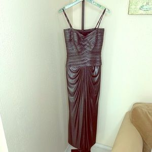 Tadashi Collection pearl black evening gown small